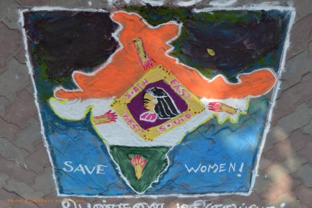 Fresques peintes par des femmes, Madurai, Inde